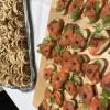 Catering:  Smoked Salmon  canapes & mushroom mozzarella puff pastry